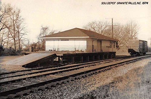 Granite Falls North Carolina SOU Railroad Depot Real Photo Vintage Postcard K98214