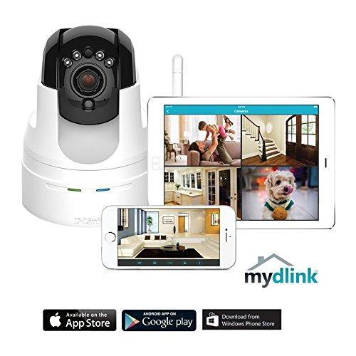 D-Link DCS-5222L HD Pan & Tilt Wi-Fi Camera (White) by D-Link