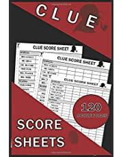 Clue Score Sheets: 120 Clue Board Game Sheets, Clue Refill Sheets, Clue Replacement Pads, Clue Notepad, Detective Notebook