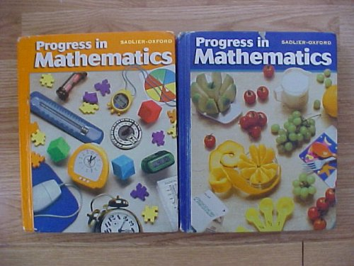 Package of 2 Sadlier Oxford Progress In Mathematics grades 4 and 5 Student Textbooks 2000