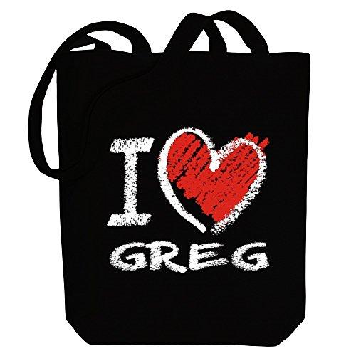 Tote style I Male Canvas Idakoos chalk Bag Names Greg love TUxgdIwq8