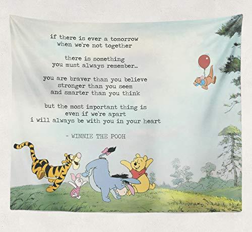 Winnie The Pooh Tapestry, Wall Decor, Winnie The Pooh Baby Shower, Winnie The Pooh Print, Winnie The Pooh Gift, Nursery Decor]()