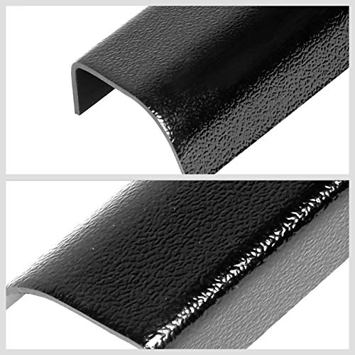 Works with 88-98 Chevy C//K 1500 2500 3500 R20 R2500 R30 R3500 UrMarketOutlet Rear Tailgate Cargo Truck Bed Cap Molding Rail Protector Cover Black//Tape-On