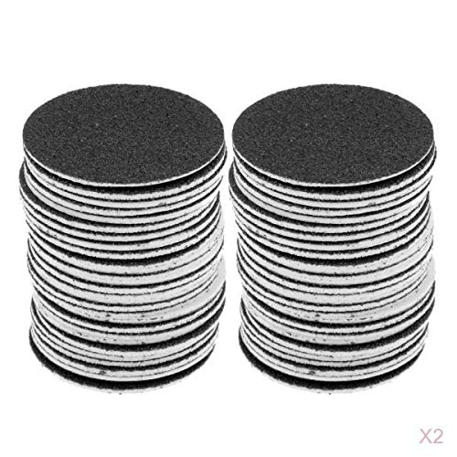 Homyl 120 Pieces Self Adhesive Replacement Sandpaper Discs for Electric Smooth Foot Dead Skin Callus Remover