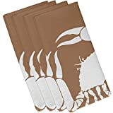 E by design Crab Dip, Animal Print Napkin, 19 x 19'', Taupe/Beige