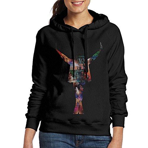 [UFBDJF20 King Of Pop Michael Sweatshirt For Women S Black] (Billie Jean Costume Jacket)