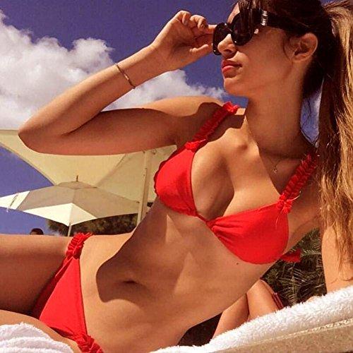 Estivo Push up Rosso Bagno Imbottito Costumi Swimwear Zolimx Da Sexy Donna Fz80q