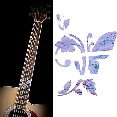 musicone diapasón marcadores Inlay adhesivo adhesivos para R acústica guitarra eléctrica Cuello mariposa forma: Amazon.es: Instrumentos musicales