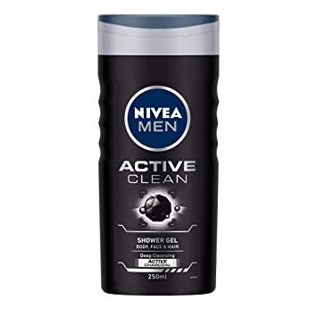 Buy NIVEA MEN Shower Gel, Active Clean Body Wash, Men, 250ml