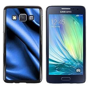 iKiki Tech / Estuche rígido - Blue fabric texture - Samsung Galaxy A3 SM-A300