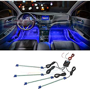 Amazon Com Ledglow 4pc Multi Color Led Car Interior