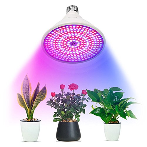 Plant Glow Light, Oldeagle E27 290 LED Ultra Bright Grow Light Hydroponic Lighting With Clip Plants Lamps For Flower