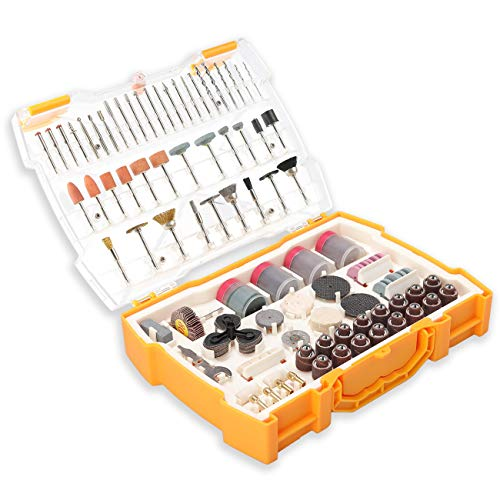 Rotary Tool Accessories Kit 300pcs, UTOOL All-Purpose Rotary Accessory Set Universal Fitment for DIY Woodworking, Cutting, Grinding, Sanding, Sharpening, Carving and Polishing