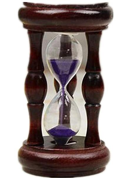 YANFEI Reloj de arena Reloj de madera de la vendimia del arte Reloj creativo de la
