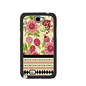nazi diy Personalized Floral Wood Pattern Cell Phone Cover Case for Samsung Galaxy Note 2, Hard Plastic Protective Skin Case Shell (aztec tribal blackju5243)