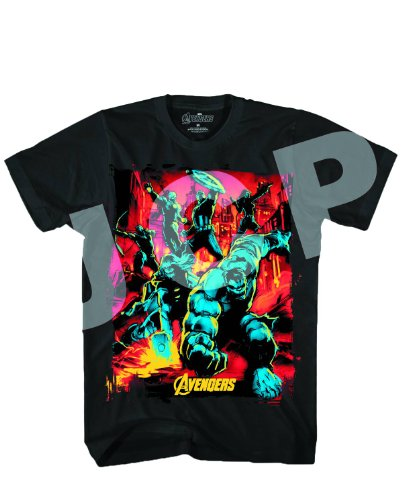 Marvel Avengers Streets On Fire Black T-Shirt | XL
