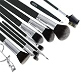 ICINI Synthetic Makeup Brush Set (11 Piece) - Grey
