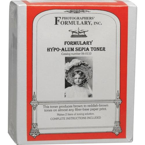 Photographers' Formulary Hypo-Alum Sepia Toner for Black and White Prints, Makes 2Lt Solution