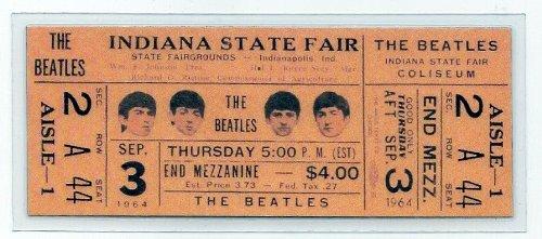 The Beatles - BEATLES CONCERT TICKET 1964