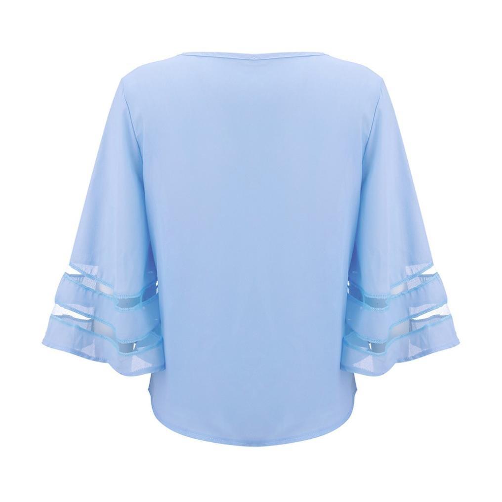 Longra Ladies House España mejor venta ropa mujeres O cuello tops camiseta de manga corta jersey blusa camiseta camiseta, verano playa viajar deporte blusa: ...