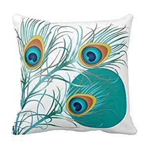 Peacock Square Throw Pillow Case Cushion Cover Fashion Home Decorative Pillowcase Cotton Polyester Pillow Cover(45cm x 45cm, Two Sides)