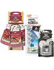 Save on Yankee Candle Car Air Freshener Bundle with 3 Car Jars (Black Cherry), 1 Ultimate Car Jar (Midsummer's Night) & 4 Vent Sticks (Clean Cotton) and more
