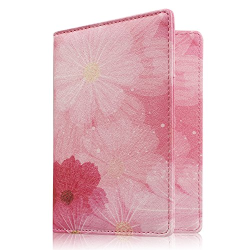 Famavala RFID Blocking Case Cover Holder Wallet for Passport (LoveFlower) ()