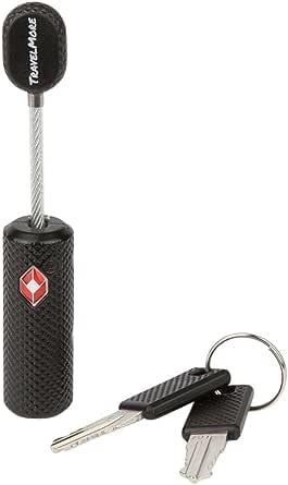 TSA Approved Luggage Locks With Key For Travel - Flexible Lock Keyed Alike (1, 2 & 4 Pack)