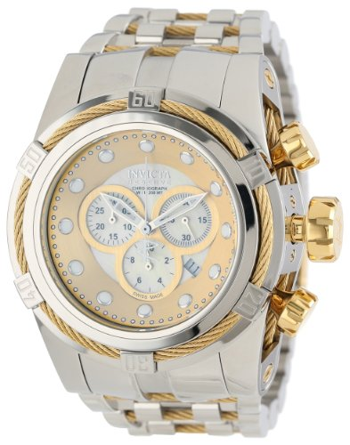 Invicta Men's 12746 Bolt Reserve Chronograph Champagne Mother-Of-Pearl Dial Stainless Steel Watch