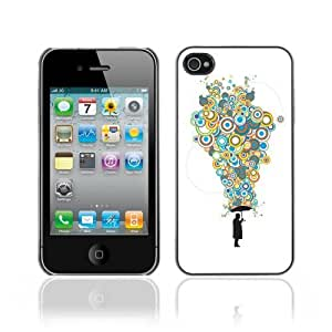 Hard Case or Cover for iPhone 4/4S Cool Bubble Thoughts Colorful waterproofase iphone iphone caseharger