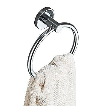 LHbox Tap Anillo de Toallas de baño baño Ideas Espacio Anillo de Oro de Aluminio Toalla Toalla toallero, [y] Instalación Glue-Free: Amazon.es: Hogar