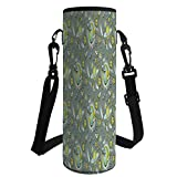 iPrint Water Bottle Sleeve Neoprene Bottle Cover,Kids Room,Outer Space Galaxy Print Rocket Ship Stars Planets Astronaut for Fun Playroom Decorations,Fit for Most of Water Bottles