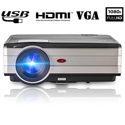 Projector LED LCD 3500 Lumen Digital Home Theater Video TV Projector Support 1080P HDMIx2 USBx2 VGA AV, 1280x800 Native Wxga Multimedia Proyectors Outdoor Movies Games Artworks Holiday Partys Karaoke