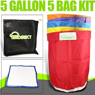 Bubble Hash Bags Ice Extractor 5 Gallon 5 Bag + micron : Plant Cages : Garden & Outdoor [5Bkhe1900365]