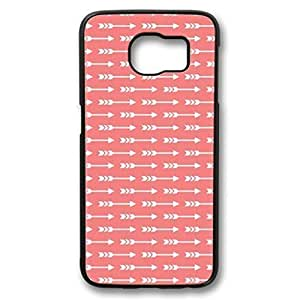 iCustomonline Arrow in Red Background Skin PC Black Case Cover Design for Samsung Galaxy S6