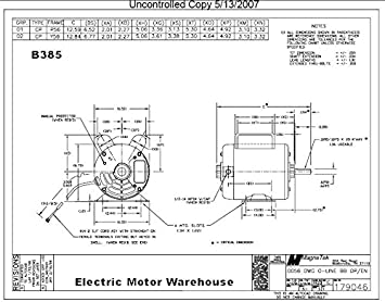 5 HP SPL 3450rpm P56 Frame 230 Volts Replacement Air Compressor Motor Magnetek Wiring Diagram on