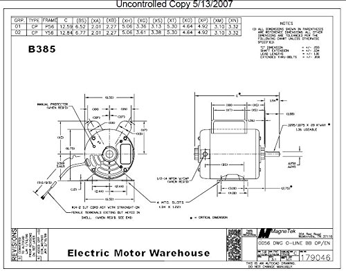 Wiring diagram emerson electric motor spl 115 wiring diagram news 5 hp spl 3450rpm p56 frame 230 volts replacement air compressor motor century motor b385 rh amazon com baldor electric motor wiring diagrams emerson motor asfbconference2016