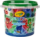 Crayola PJ Masks Creativity Bucket Art Gift for Kids 3 & Up, Includes to Create PJ Masks Artwork: Crayons, Paint, Markers, Brushes, Badges & Coloring Pages in a Resealable Bucket