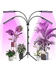 Woputne Tillväxtlampor för inomhusväxter med stativstativ, LED-växtljus med fullt spektrum, automatiskt på- och avstängbara tillväxtlampor, justerbar 360° svanhals