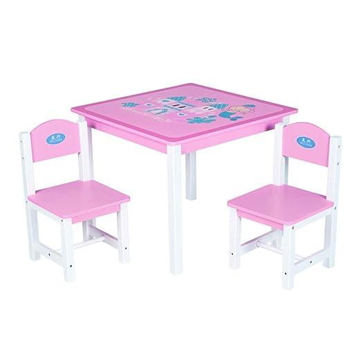 juego de mesa y silla para niños, Escritorio de Madera Maciza para ...