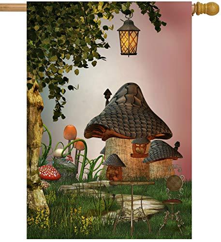 ShineSnow Fantastic Fairy Tales Mushroom Garden Landscape Tree Light House Flag 28