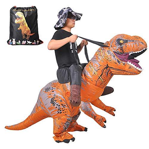 RHYTHMARTS Riding Dinosaur Costume Adult Inflatable Costume Kids with Drawstring Bag by RHYTHMARTS