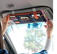 Lvcky Multi-Purpose Auto Car Sun Visor Organizer Pouch Bag Card Storage Pen Holder Blue
