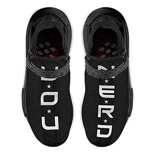 Black Trail You Race Casual Men Shoes Breathable Lightweight Fashion Women Nerd Human Sneaker p6nZqav