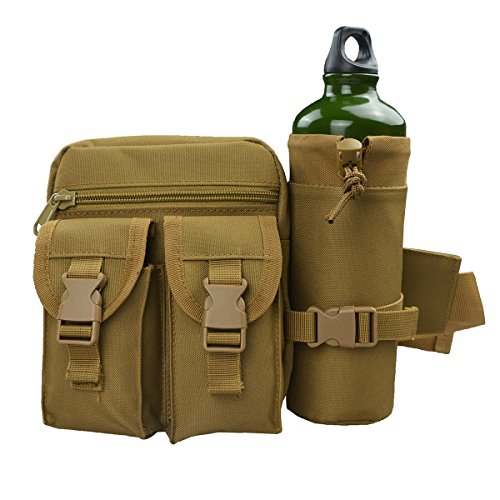 Waist Fanny Pack Belt Bag Camping Hiking Phone Pouch Khaki - 3