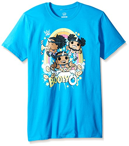 Funko Men's Pop Tees: WWE-New Day Booty O's Rainbow, Turquoise, Small