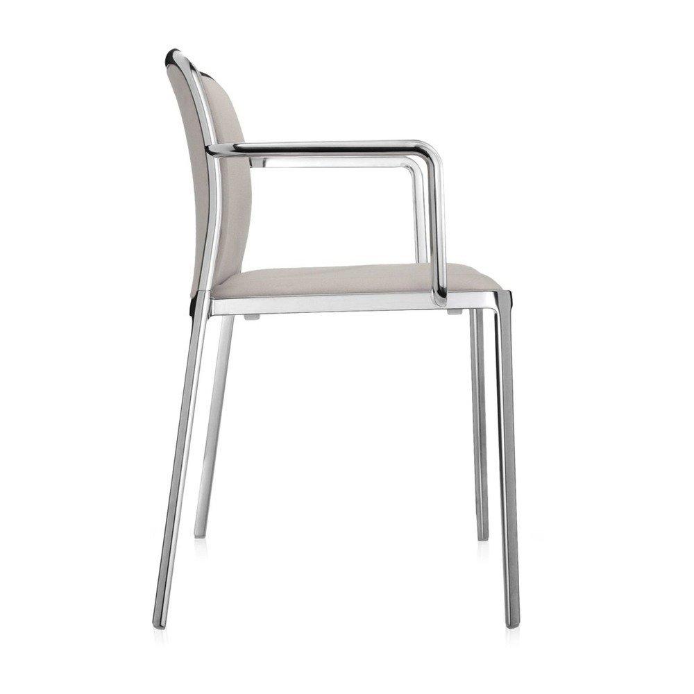 Aluminium Glossy//beige Plastik 51 x 80 x 60 cm Kartell Audrey Soft Sessel