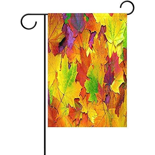 Starotor Garden Flag Colorful Fall Leaf Maple Leaf 12 x 18 i