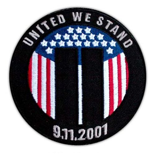 VEGASBEE® NEW YORK 9-11 SEPTEMBER WTC TOWERS UNITED WE STAND PATRIOT COMMEMORATIVE PATCH - Wtc 911 Flag
