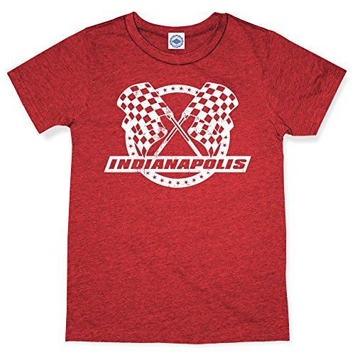 (Hank Player U.S.A. Indianapolis Racing Men's T-Shirt (M, Heather Red))